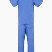 Light Blue NHS Compliant Reversible Scrub Suit Set additional 2
