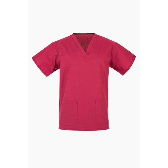 Raspberry NHS Medical Compliant Scrub Suit Tunic (Top Only)