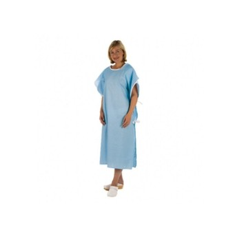 Unisex Blue Patient Wrap Gown