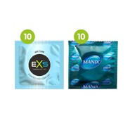 20 Mixed Condoms - 10 EXS Air Thin + 10 Mates/ Manix Original