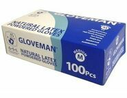 1 CASE / 10 Boxes of Gloveman Latex Lightly Powdered Gloves