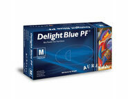 1 CASE 10 x Boxes of Aurelia Delight AQL 1.5 Blue Powder Free Vinyl Gloves