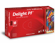 Aurelia Delight Clear Powder Free Vinyl Gloves