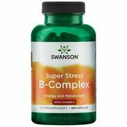 Swanson Super Stress B Complex with Vitamin C, 500mg, 100 Capsules
