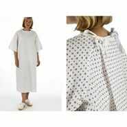Unisex White Patient Wrap Gown