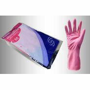 Yala Flock Lined Pink Household Latex Gloves