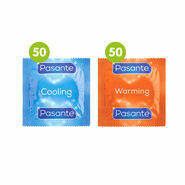 100 Mixed Condoms - 50 x Pasante Cooling + 50 x Pasante Warming