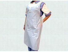 White Disposable Flat Packed Aprons pack of 100