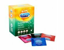 DUREX SURPRISE ME Variety Box of 40, Thin Feel, extra Safe, Tickle Me, Pleasure Me