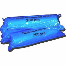 Blue Disposable Aprons on a Roll - 200