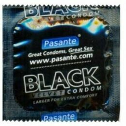 Pasante Black Velvet (Wider) Condoms (144 Pack)