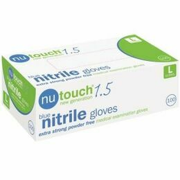 5 x Boxes of Nutouch Blue Nitrile 'eco 200 Boxes' Gloves