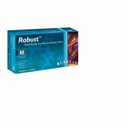 1 CASE 10 x Boxes of Aurelia Robust Strong Blue Nitrile Gloves