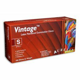 1 CASE 10 x Boxes of Aurelia Vintage Latex Lightly Powdered Gloves