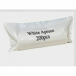 White Disposable Flat Packed Aprons pack of 100 - Multi Saver