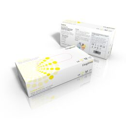 Unigloves Yellow Pearl Nitrile Gloves