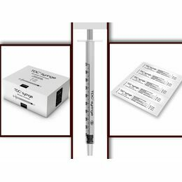 1ml Luer Slip Individual Syringe (White or Purple Plunger)