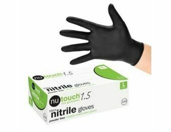3 Cases - 30 x Boxes of Nutouch Black Nitrile Gloves