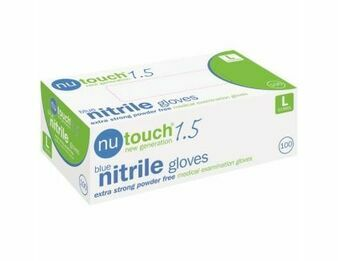 1 Case -10 x Boxes of Nutouch Blue Nitrile (9 Newton) Gloves