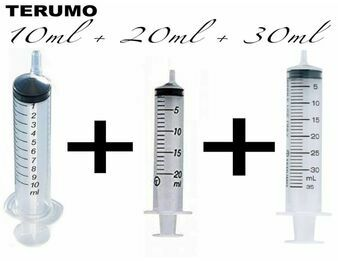 Larger Terumo Syringes Combo Pack (10ml, 20ml & 30ml)