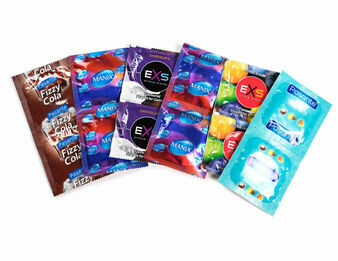 Ultimate Flavoured Condom Mix - Pasante, EXS & Mates