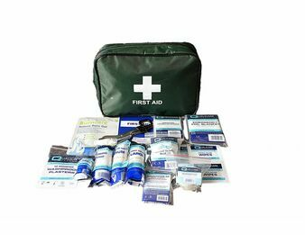 BSI Regulated Travel First Aid Kit with free Tuffcut scissors & Pouch (QF2500)