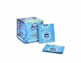 Skins Cube Natural Condoms - 16 Pack