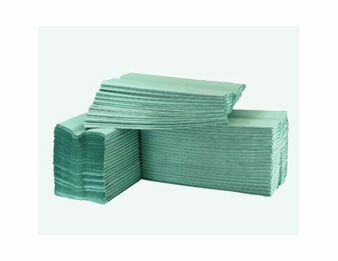 C Fold 1 Ply Paper Hand Towels (Green)