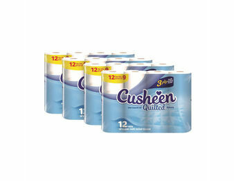 Cusheen 3 Ply Luxury Quilted Toilet Tissue x 60