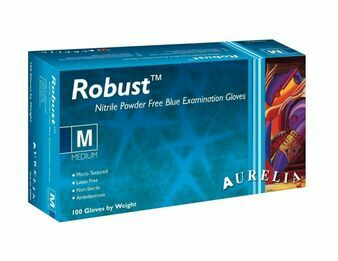 Aurelia Robust Blue Nitrile Powder Free Gloves