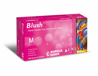 Aurelia Blush Pink Nitrile Powder Free (200s) Gloves