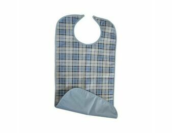 Adult Soaker Bib (Blue/White)
