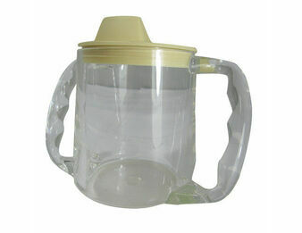 Twin Handled Clear Caring Cup