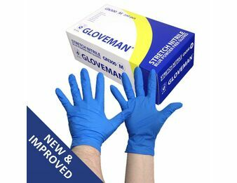 Gloveman Blue Nitrile (200s) Gloves