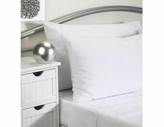 100% Cotton Single White Bed Sheet