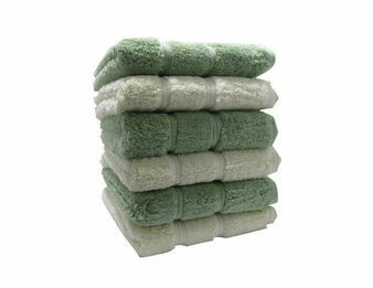 Set of 3 Luxury Ivory Bath Towels