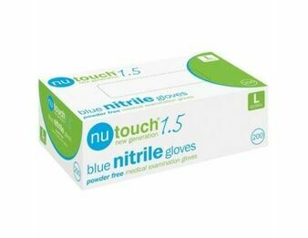 Nutouch Blue Nitrile AQL 1.5 Box of 200 Gloves