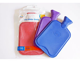 Plain Hot Water Bottle (Assorted Colours)