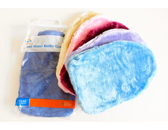 Faux Fur Hot Water Bottle Cover (Assorted Colours)