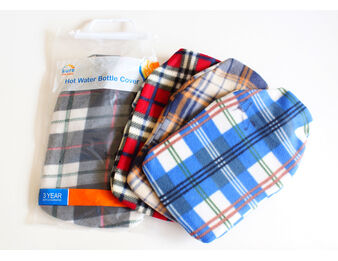 Tartan Fleece Hot Water Bottle Cover