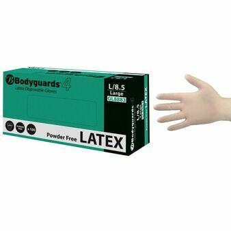 Bodyguards Powder Free Latex Gloves