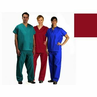 Raspberry NHS Compliant Reversible Scrub Suit Set (Tunic Top + Trousers)