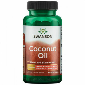 Swanson EFAs Certified Organic Coconut Oil - 1,000mg - 60 Softgel Tablets