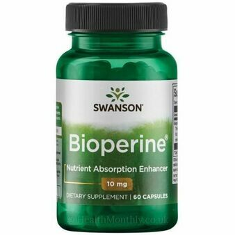 Swanson Ultra Bioperine Nutrient Absorption Enhancer 10Mg 60 Capsules