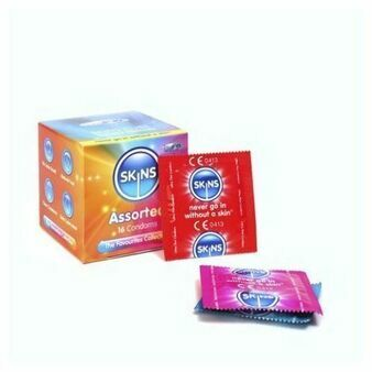 Skins Cube Assorted Condoms - 16 Pack