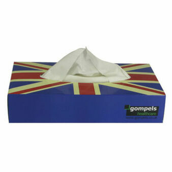 Proform 2 Ply Union Jack Facial Tissues x 100 (36 Boxes)