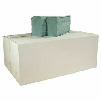 V Fold 1 Ply Recycled Paper Hand Towels x 5000 (Green)