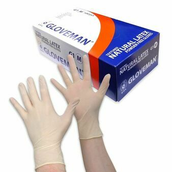Box of 100 Gloveman Latex Powder Free Gloves