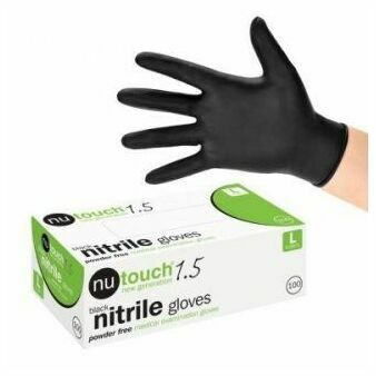 Nutouch Black Nitrile Gloves