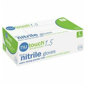 Nutouch Blue Nitrile AQL 1.5 Gloves